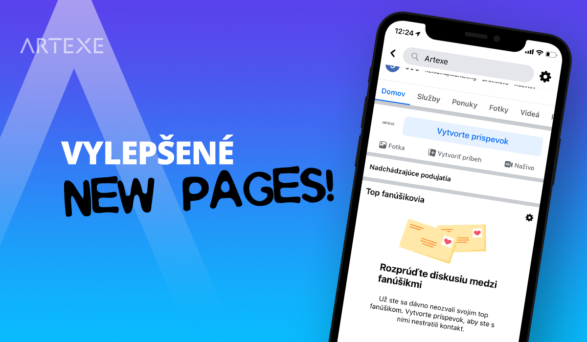 Facebook vylepšil NEW PAGES!
